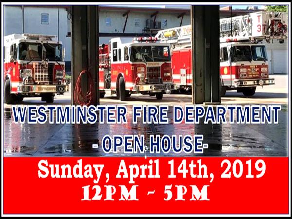 Westminster Fire Department Volunteer Recruitment Open House